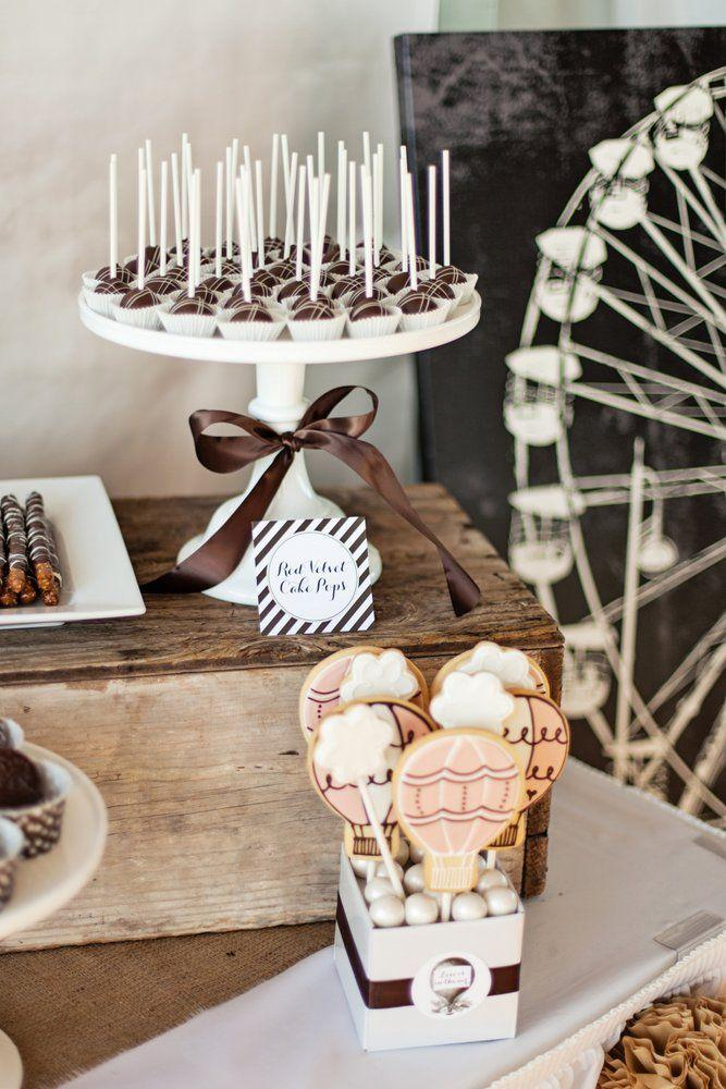 Neutral Vintage Rustic Baby Shower