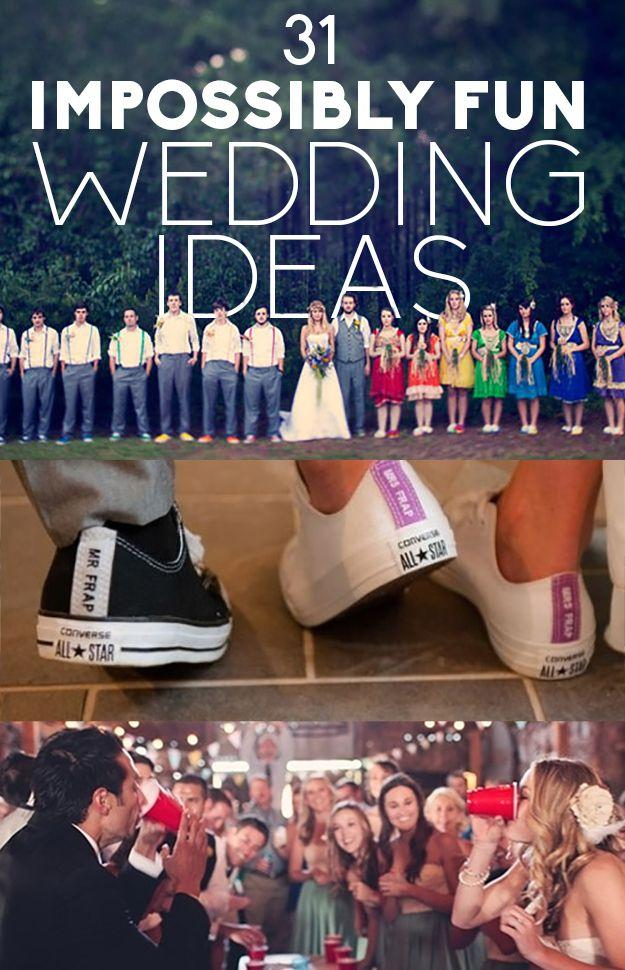 Mariage - 31 idées amusantes de mariage - adorent ces!!