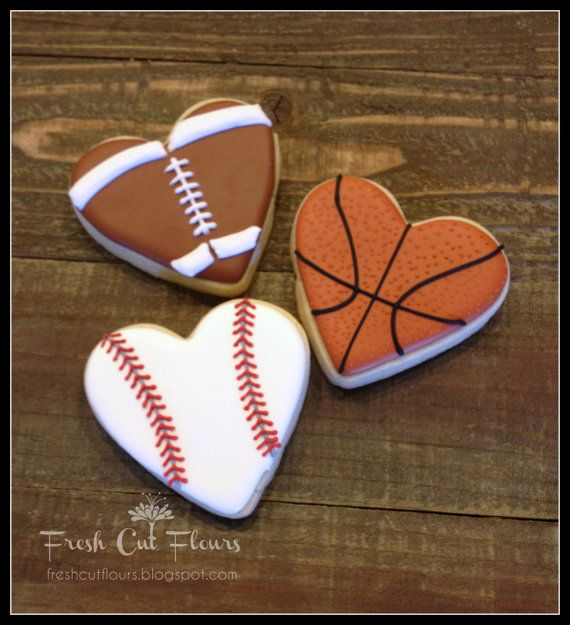 Sports Enthusiast Valentine S Day Hearts Hand Decorated Sugar