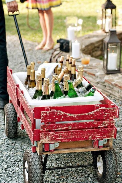 Wedding - Red Wagon Beverage Cooler