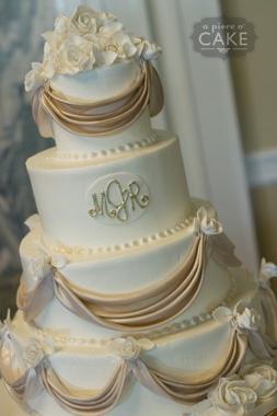 Wedding - Wedding Cake With Monogram