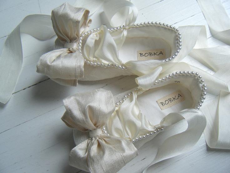 Bridal Ballet Flats, Wedding Shoes, Lace Ballet Shoes, Pearl Elegance,  Bobka Shoes By BobkaBaby