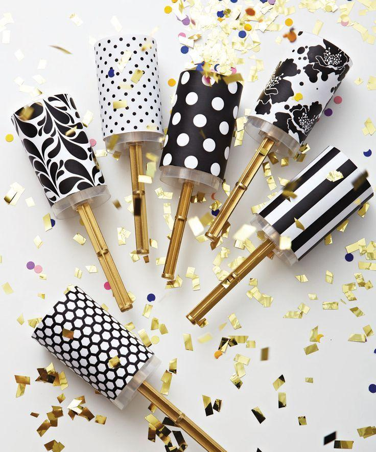 Black And White Wedding Diy Wedding Confetti Poppers 2068956