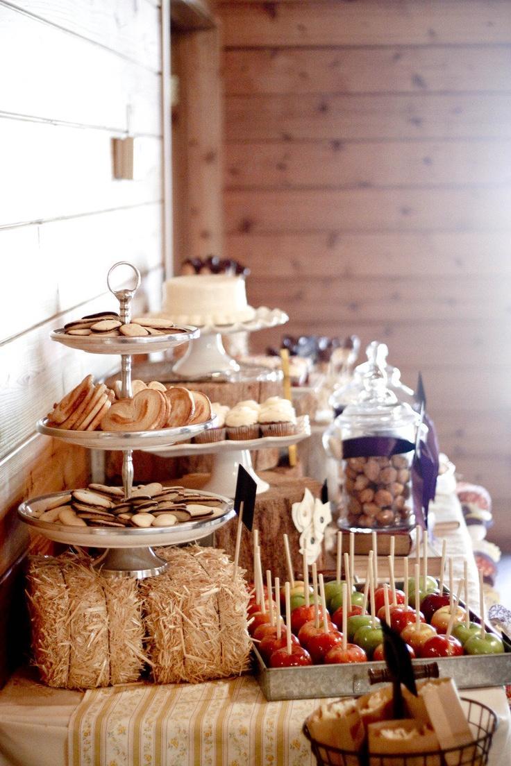 Autumn Wedding Farm Party Food Display 2069105 Weddbook