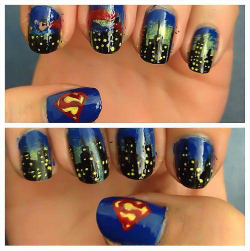 Mariage - Superman Man Of Steel Nail Art