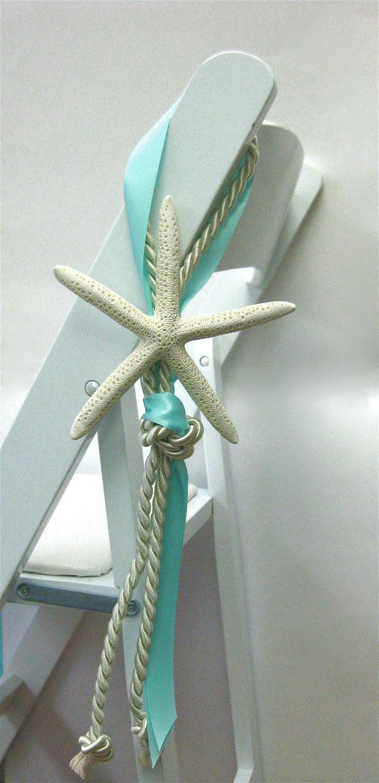 Beach wedding chair decoration 14 ribbon colors - Sillas de playa ...