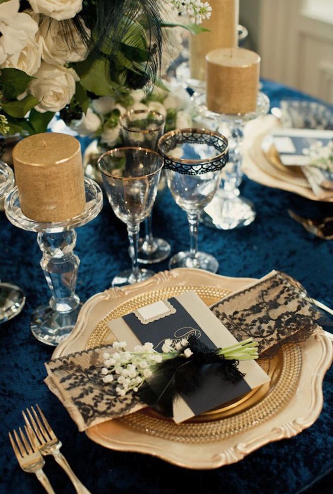 Hochzeit - Gold-Schwarz-Spitze