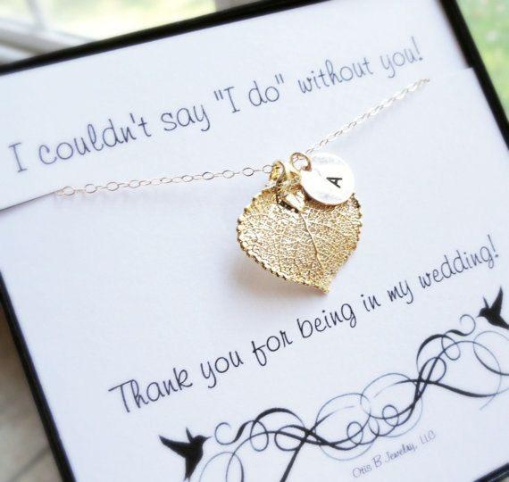 Wedding Thank You Gifts Bridesmaids : ... Bridesmaid Gift, Autumn Wedding, Bridesmaid Thank You, Gold Initial