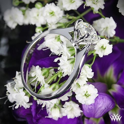 """Свадьба - 18-каратного белого золота """"легато гладкие линии"""" пасьянс обручальное кольцо"""