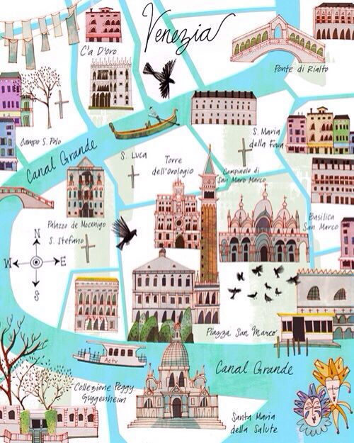 Venedig Karte.Venedig Hochzeitsreise Venice Karte 2069711 Weddbook