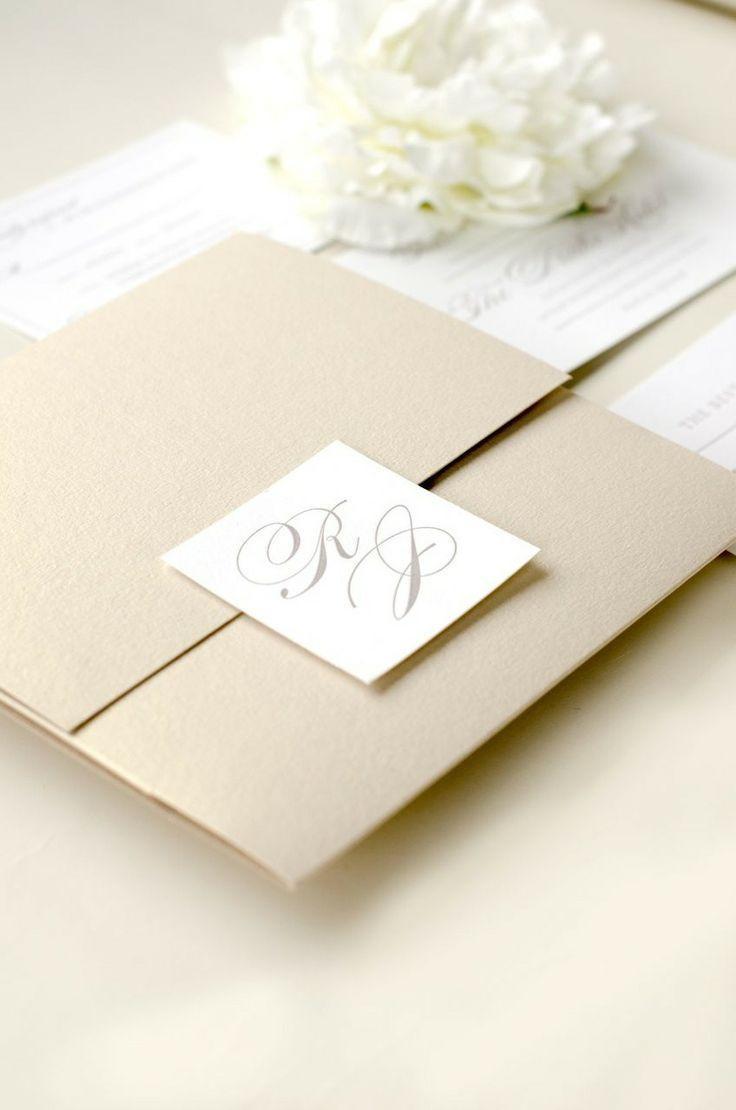 Свадьба - Элегантный Вневременной Высокой Свадебные Приглашения