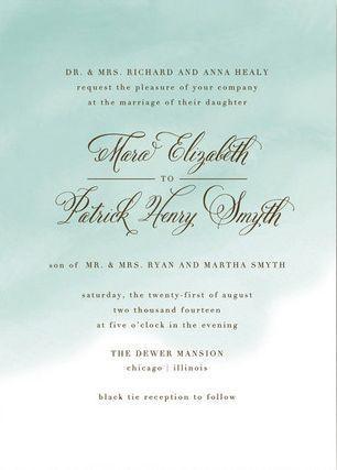 einladung - aquarell wash einladung #2069798 - weddbook, Einladung