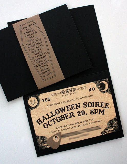 Resultado de imagen de invitacione de boda halloween