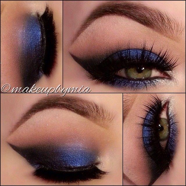 Свадьба - Синий Смоки Look @ Makeupbymia