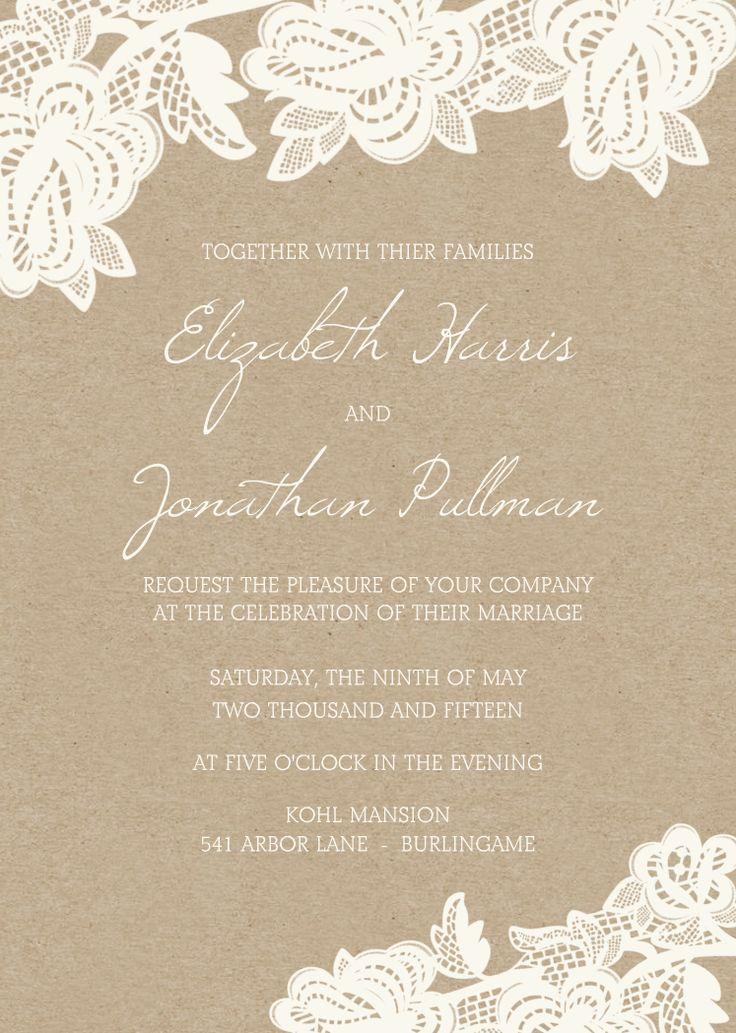 Lace Wedding - Beautiful Lace Invites #2070024 - Weddbook