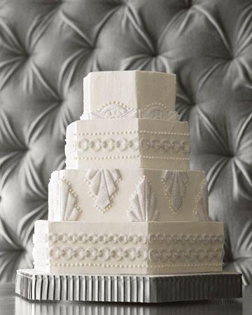 زفاف - بلدي المفضل ... رسالة آرت ديكو كعكة الزفاف!