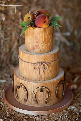 rustic style wedding cake rustic wedding pinterest - Cowboy Themed Bridesmaid Dresses