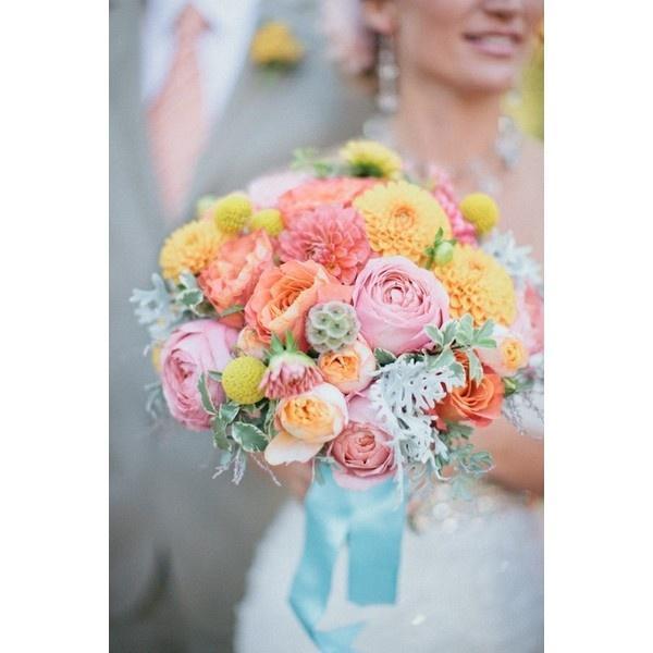 Pastel Wedding Flowers Liked On Polyvore 2070169 Weddbook
