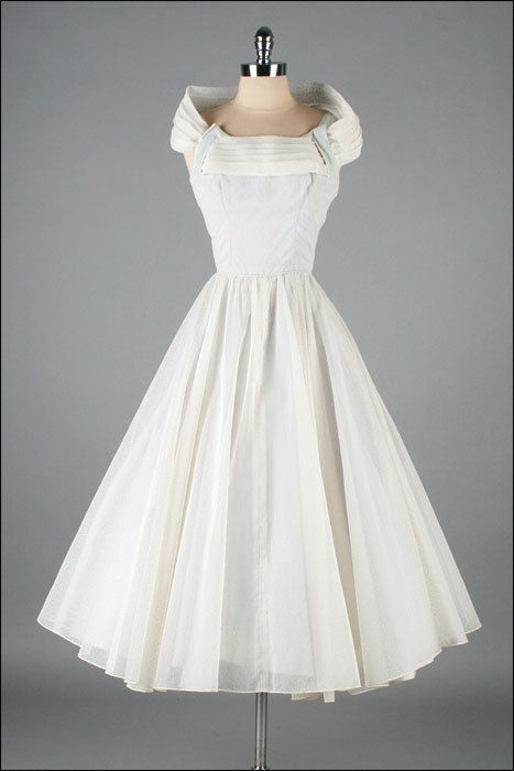 Boda Retro - Vintage 1950 Vestido Swiss Dot #2070385 - Weddbook