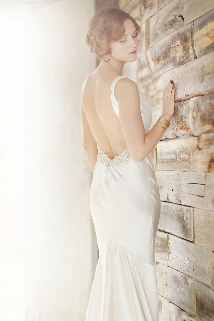 Mariage - Dos nu style Art Déco robe de mariée