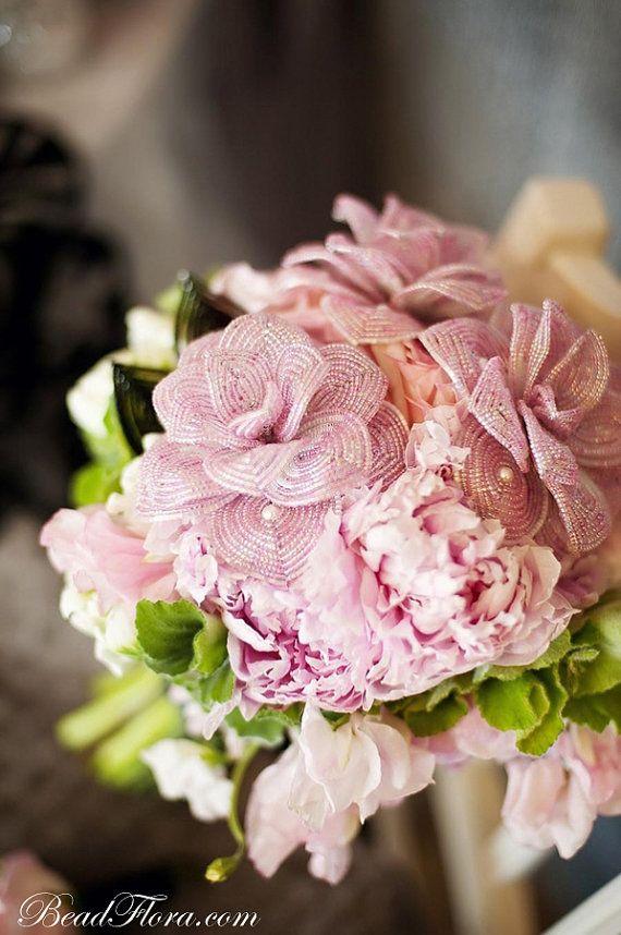 Mariage - Français perlé Roses - Romance française vintage, Ensemble De 3
