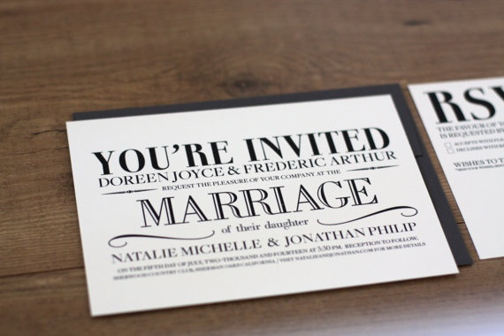 Wedding - Printable / Vintage Modern Wedding Invitation Card (DIY)