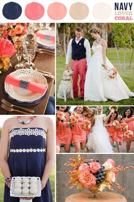 Navy And Coral Wedding.Coral Wedding Coral Navy Pink Mauve Ivory 2070849 Weddbook