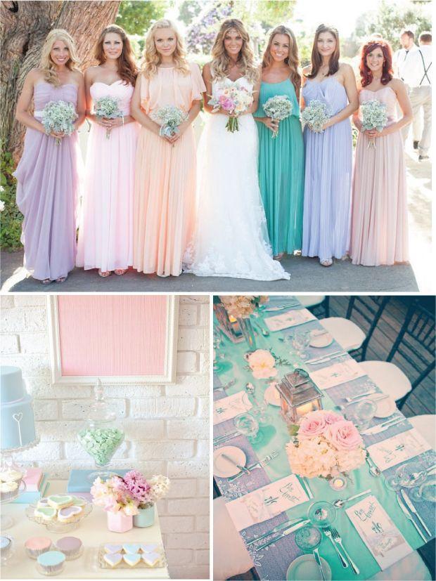 Pastell hochzeit pastell hochzeit inspiration 2070913 for Pastel color dress for wedding