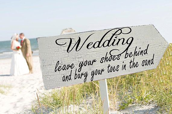 Beach wedding signs wedding decorations arrow 24x8 2071037 weddbook beach wedding signs wedding decorations arrow 24x8 junglespirit Image collections