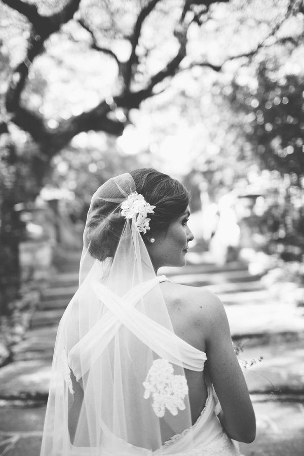 Mariage - Floral Cap Veil. Jenny Kim Couture.