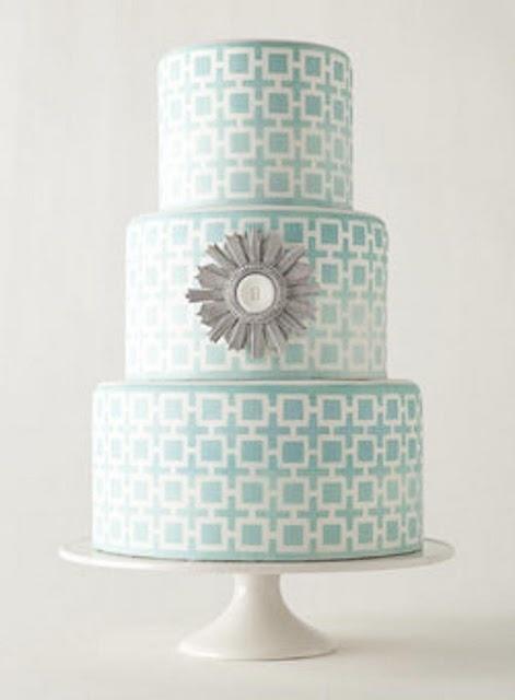 Mariage - Aqua gâteau