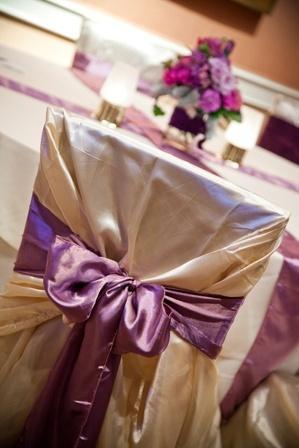 Mariage - Rideaux et chaises de mariage