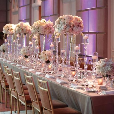 Blush Wedding - Wedding PINK - BLUSH #2071638 - Weddbook Quinceanera Table Settings