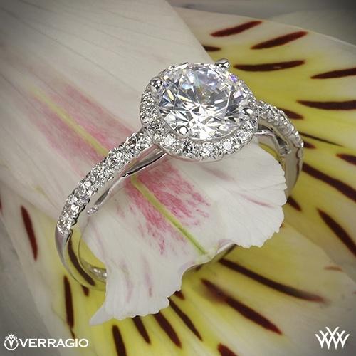 Mariage - Diamant Halo Anneaux