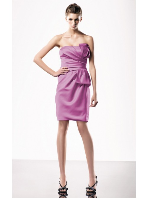 Wedding - Attractive Lilac Sheath Knee-length Strapless Dress