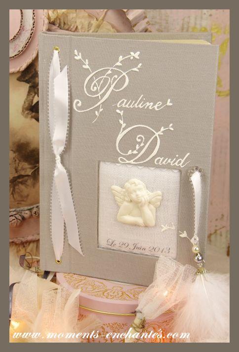 """Mariage - Livre d'or """"Beau comme un Ange"""""""