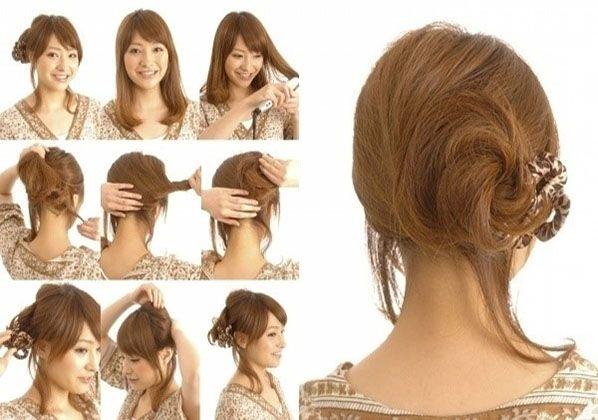 Diy Braided Chignon Hair Tutorial Beauty Long Updo Bun How To Hairstyles Tutorials Easy