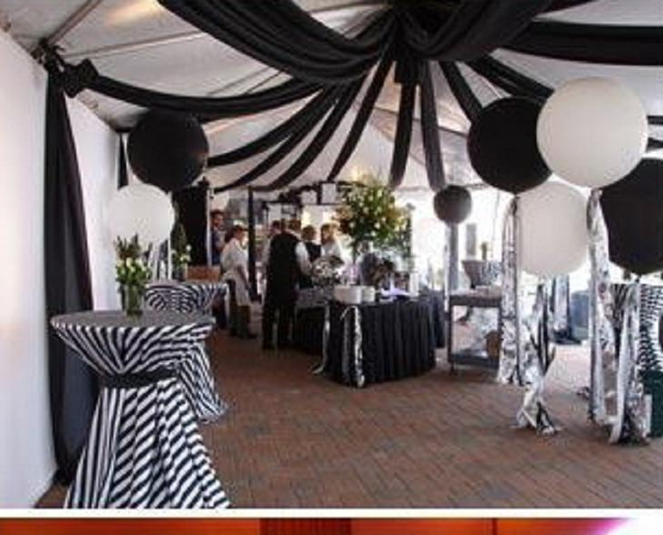 زفاف - الأسود والأبيض الشريط حفلات الزفاف