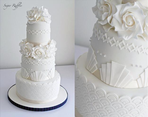 زفاف - الفن ديكو كعكة الزفاف