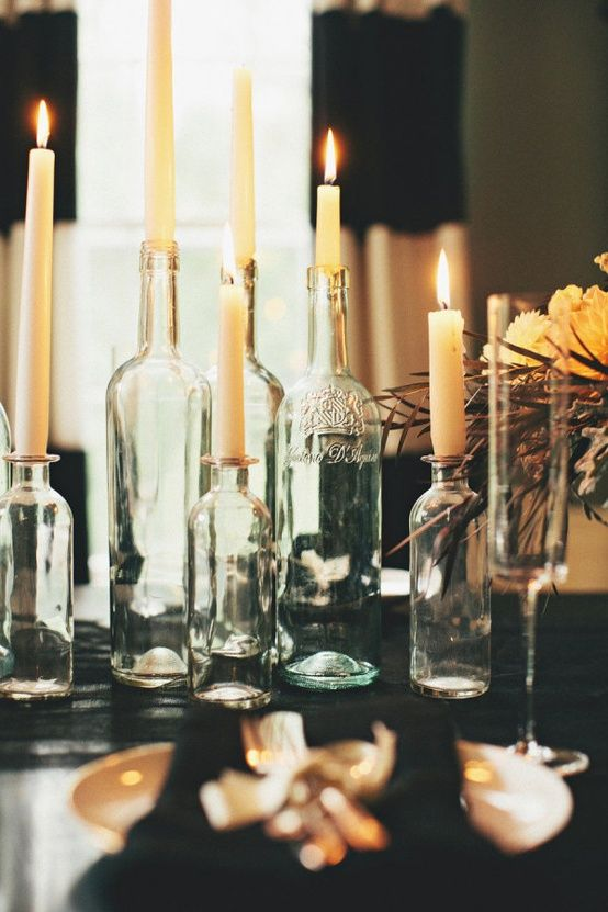 Gorgeous Floral Candleholder Vintage Style