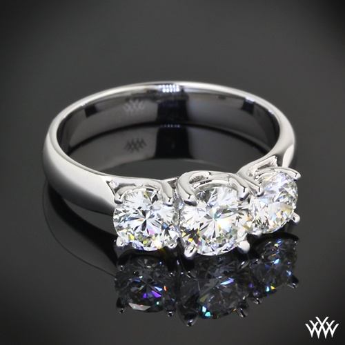 Wedding - Three Stone Engagement Rings - Past, Present And Forever