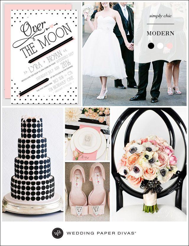زفاف - الكلاسيكية أسود / أبيض الزفاف