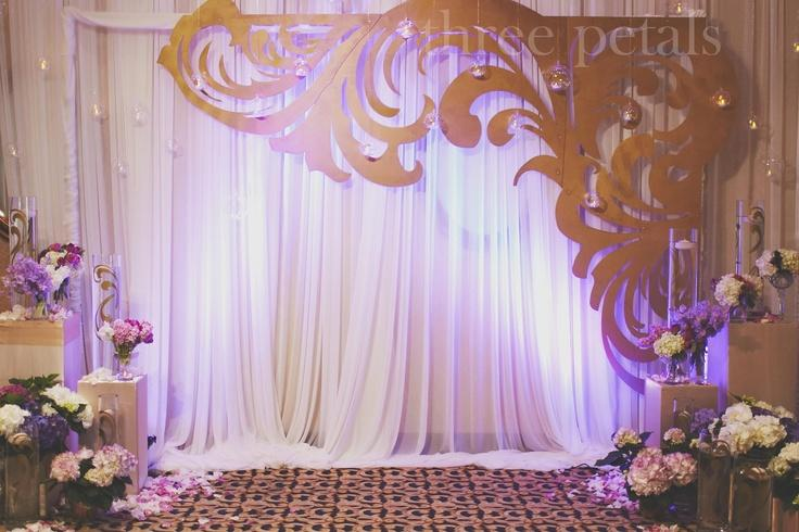 Wedding backdrop joy studio design gallery best design for Back ground decoration