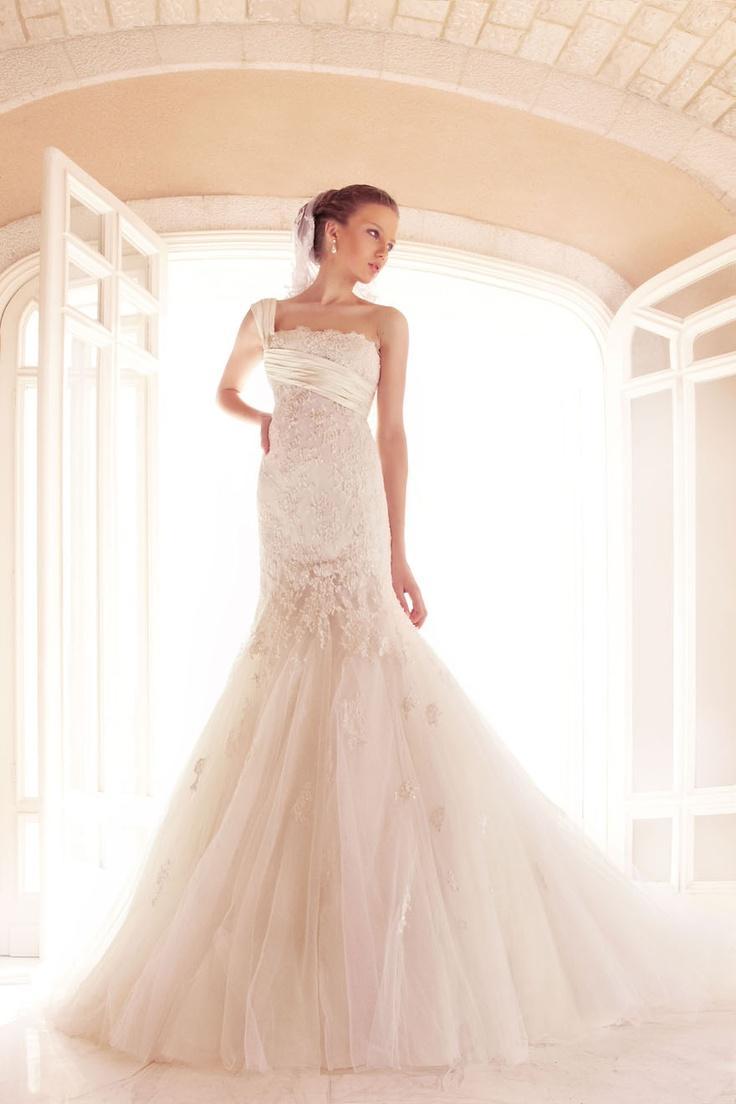 One shoulder strap wedding dress inspiration 2078393 for Wedding dresses one strap