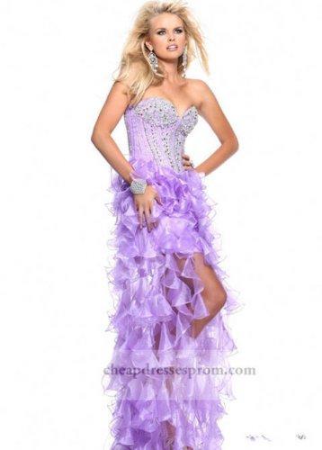 4e75c6b4d315 Lilac Beaded Corset Cheap High Low Prom Dresses #2080611 - Weddbook