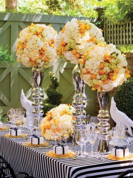 Hochzeit - Schwarzweiß-Streifen Hochzeiten