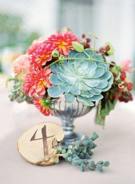 Hochzeit - Tischnummer-Ideen