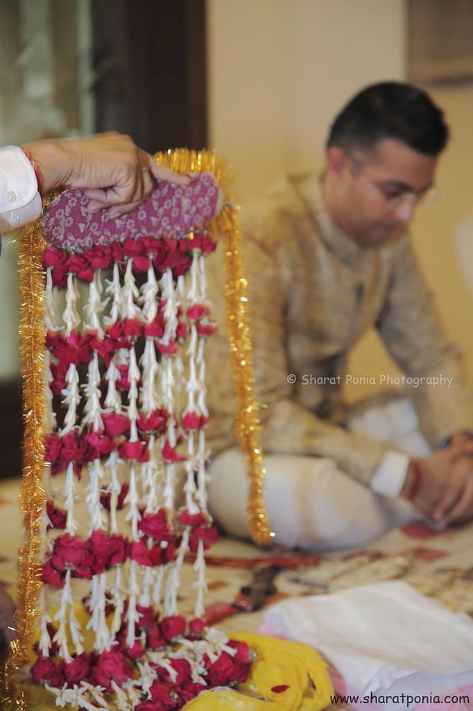 Wedding - Sehra Bhandhi Happening For Groom - Candid Moment
