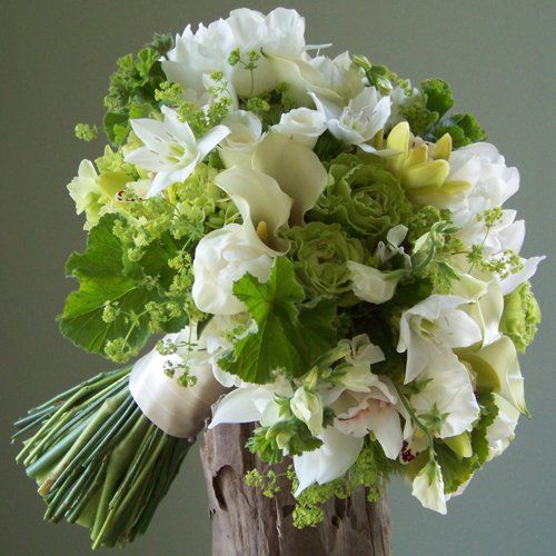 Mariage - Bouquet de mariée verte