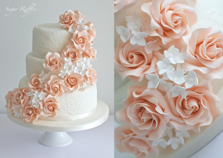 Blush Wedding Blush Rose Cascade Wedding Cake 2082599